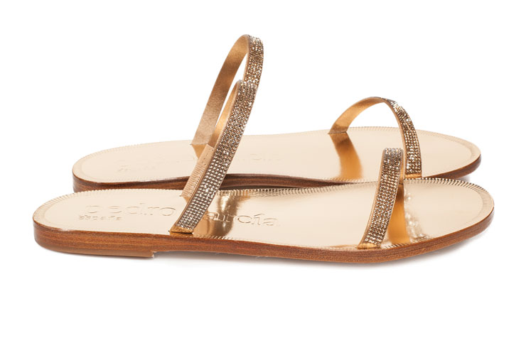 Sandals with Swarovski