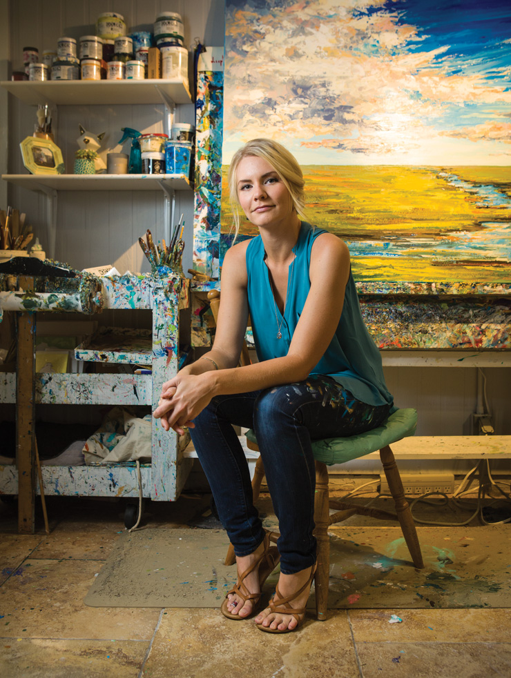 24-Year-Old Artist Sarah LaPierre Is A Palette-Knife Prodigy Who Lets Creativity Paint Every Part Of Her Life
