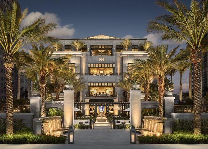 RH West Palm Beach's New Showroom Looks Like A Mansion