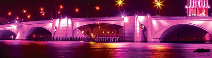 This Is Why The Palm Beach Middle Bridge Is Illuminated In Pink