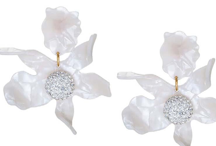 Lele Sadoughi flower earrings