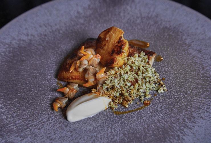 Seasonally inspired dish at GBR